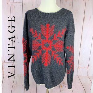 Vintage Harold's Wool Snowflake Sweater